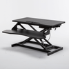 Sit Stand Workstation Standing Desk Converter With Dual Monitor Mount Combo Ergonomic Height Adjustable Tabletop Desk
