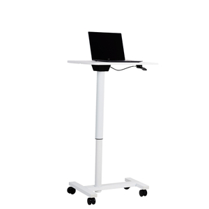 Height Adjustable Gas Spring Computer Small Desk with Rectangular Desktop
